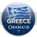 3145 Greece for Barack Obama Button - 2 -1/4&amp;quot;, BT23516