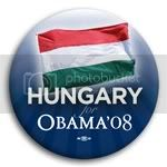 3146 Hungary for Barack Obama Button - 2 -1/4&amp;quot;, BT23517