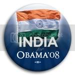 3148 India for Barack Obama Button - 2 -1/4&amp;quot;, BT23519