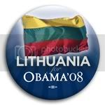 3078 Lithuania for Barack Obama Button - 2 -1/4&amp;quot;, BT23528