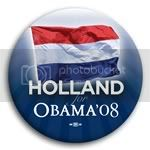 3080 Holland for Barack Obama Button - 2 -1/4&amp;quot;, BT23530