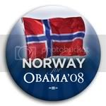 3083 Norway for Barack Obama Button - 2 -1/4&amp;quot;, BT23533