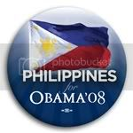 3086 Philippines for Barack Obama Button - 2 -1/4&amp;quot;, BT23536