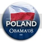 3087 Poland for Barack Obama Button - 2 -1/4&amp;quot;, BT23537