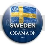 3093 Sweden for Barack Obama Button - 2 -1/4&amp;quot;, BT23543