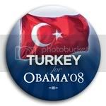 3094 Turkey for Barack Obama Button - 2 -1/4&amp;quot;, BT23544