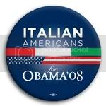 3095 Italian Americans for Barack Obama Button - 2 -1/4&amp;quot;, BT23600