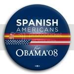 3096 Spanish Americans for Barack Obama Button - 2 -1/4&amp;quot;, BT23601