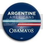 3097 Argentine Americans for Barack Obama Button - 2 -1/4&amp;quot;, BT23602