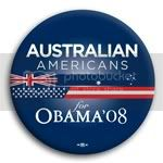 3098 Australian Americans for Barack Obama Button - 2 -1/4&amp;quot;, BT23603