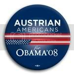 3099 Austrian Americans for Barack Obama Button - 2 -1/4&amp;quot;, BT23604
