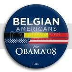 3100 Belgian Americans for Barack Obama Button - 2 -1/4&amp;quot;, BT23605