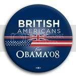 3101 British Americans for Barack Obama Button - 2 -1/4&amp;quot;, BT23606