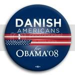 3102 Danish Americans for Barack Obama Button - 2 -1/4&amp;quot;, BT23607