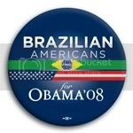 3103 Brazilian Americans for Barack Obama Button - 2 -1/4&amp;quot;, BT23608