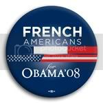 3104 French Americans for Barack Obama Button - 2 -1/4&amp;quot;, BT23609