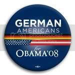 3105 German Americans for Barack Obama Button - 2 -1/4&amp;quot;, BT23610