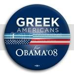 3106 Greek Americans for Barack Obama Button - 2 -1/4&amp;quot;, BT23611