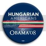 3107 Hungarian Americans for Barack Obama Button - 2 -1/4&amp;quot;, BT23612