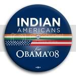 3108 Indian Americans for Barack Obama Button - 2 -1/4&amp;quot;, BT23613