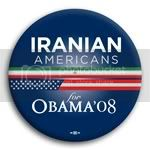 3109 Iranian Americans for Barack Obama Button - 2 -1/4&amp;quot;, BT23614