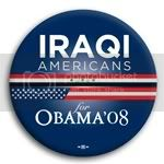 3110 Iraqi Americans for Barack Obama Button - 2 -1/4&amp;quot;, BT23615