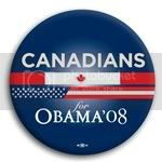 3111 Canadians for Barack Obama Button - 2 -1/4&amp;quot;, BT23616