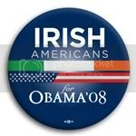 3112 Irish Americans for Barack Obama Button - 2 -1/4&amp;quot;, BT23617
