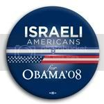 3113 Israeli Americans for Barack Obama Button - 2 -1/4&amp;quot;, BT23618