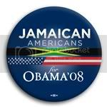 3114 Jamaican Americans for Barack Obama Button - 2 -1/4&amp;quot;, BT23620