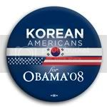 3115 Korean Americans for Barack Obama Button - 2 -1/4&amp;quot;, BT23621