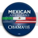 3116 Mexican Americans for Barack Obama Button - 2 -1/4&amp;quot;, BT23622