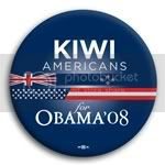 3117 Kiwi Americans for Barack Obama Button - 2 -1/4&amp;quot;, BT23623