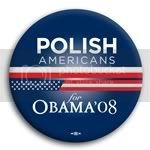 3119 Polish Americans for Barack Obama Button - 2 -1/4&amp;quot;, BT23625