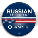3121 Russian Americans for Barack Obama Button - 2 -1/4&amp;quot;, BT23627