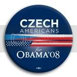 3124 Czech Americans for Barack Obama Button - 2 -1/4&amp;quot;, BT23630