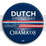 3127 Dutch Americans for Barack Obama Button - 2 -1/4&amp;quot;, BT23633