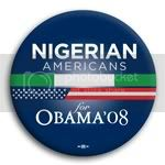 3128 Nigerian Americans for Barack Obama Button - 2 -1/4&amp;quot;, BT23634