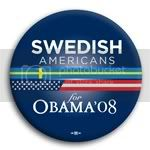 3129 Swedish Americans for Barack Obama Button - 2 -1/4&amp;quot;, BT23635
