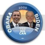 3179 Obama and Biden Yes We Can 2008 Photo Button - 2-1/4&amp;quot;, BT23802