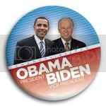 3180 Change In 2008 Obama and Biden Photo Button - 3&amp;quot;, BT23804