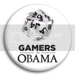 2875 Gamers (dice) for Obama Photo Button - 2 1/4&amp;quot;, BT23869