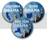 2996 &quot;Your State&quot; for Barack Obama Photo Button - 3&amp;quot;, BT24021