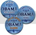 2997 State Nick Names for Barack Obama Button - 2 -1/4&amp;quot;, BT24039