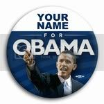 2978 Personalized Barack Obama for President Photo Button - 3&amp;quot;, BT26762