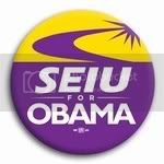 3028 SEIU for Barack Obama Button - 2 -1/4&amp;quot;, BT26801