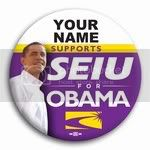 3031 Personalized SEIU for Barack Obama Photo Button - 3&amp;quot;, BT26803