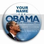 2979 Personalized Hope for Our United States, Obama Button - 3&amp;quot;, BT26815