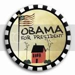 2993 Obama For President Country Setting Button - 3&amp;quot;, BT26825