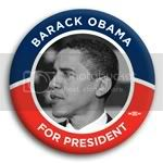 3010 Barack Obama for President Photo Button - 3&amp;quot; (side), BT29216